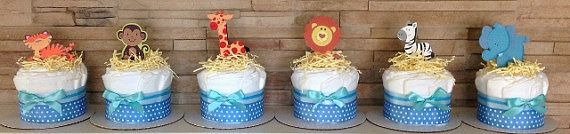 Jungle Baby Shower Centerpieces Safari Baby by DiaperCakesbyRuby