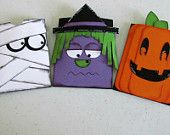 Set of 5 halloween treat holders for fun size candy