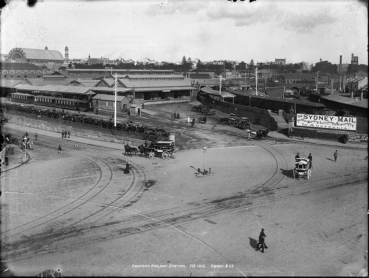 An historical view of #Redfern Railway Station