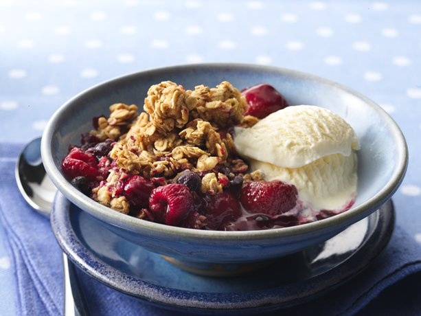 ... crisps crumbles pies buckles and cobblers triple berry granola crisp