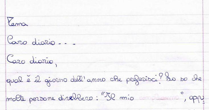 Tema Caro diario ... Caro diario, qual è il giorno dell'anno che preferisci? Lo so che molte pe...