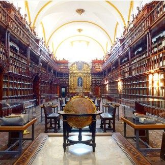 The Biblioteca Palafoxiana in Puebla, Mexico, is the oldest library in the Americas
