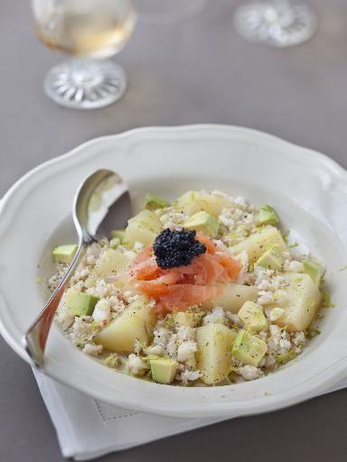 Salade de pommes de terre et saumon : Recette de Salade de pommes de terre et saumon - Marmiton