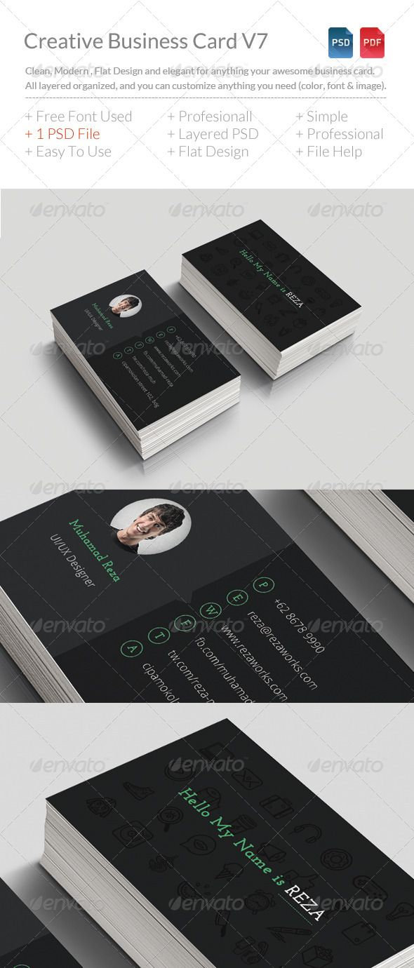 Creative Business Card V7 download in here http://graphicriver.net/item/creative-business-card-v7/8251087?WT.ac=portfolio&WT.z_author=BdgPixel
