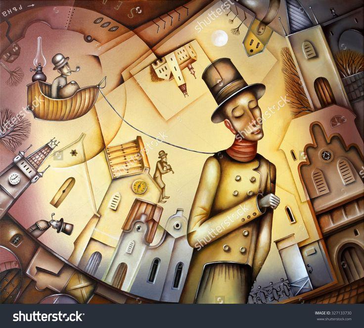 Gulliver And The Lilliputians  by Eugene Ivanov. #eugeneivanov #cubistic #urban #landscape #cityscape #cubism #@eugene_1_ivanov