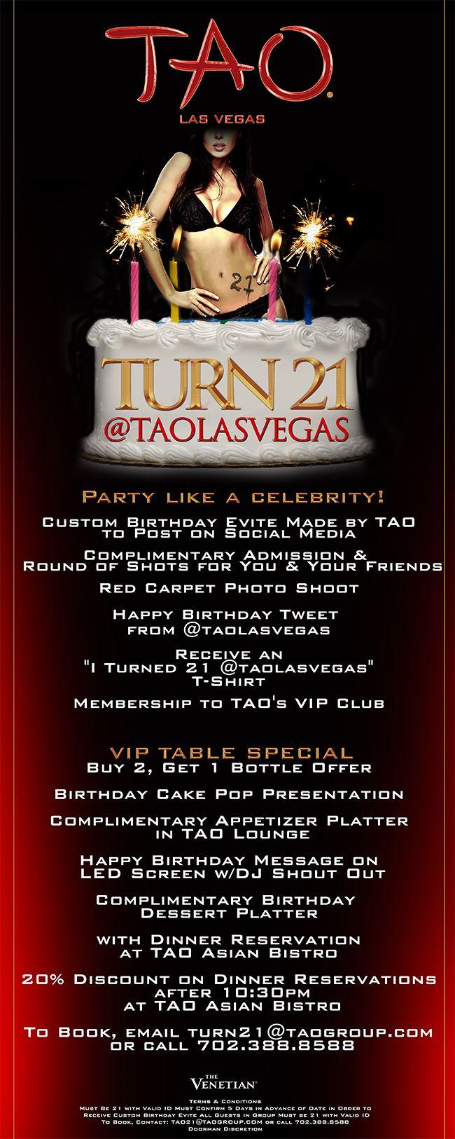 Turn 21 At TAO Las Vegas
