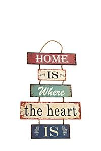 HOME IS WHERE THE HEART IS HANGING PLAQUE