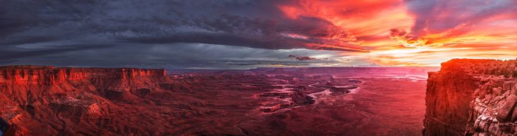 This was the best sunset I have ever seen. Green River Overlook Canyonlands UT. [54401440] #reddit