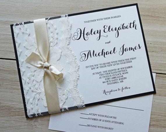 Best 25 Wedding invites lace ideas – Elegant Lace Wedding Invitations
