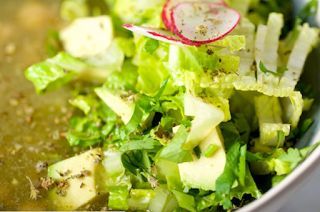 be healthy-page: Mexican Green Pozole With Chickpeas