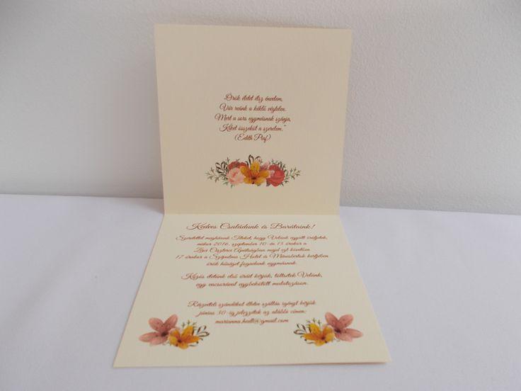 vintage esküvői meghívó 06.2