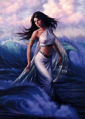amphitrite greek goddess queen   sea wife