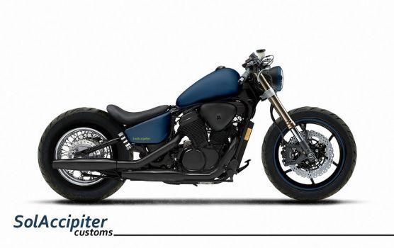 DeviantArt: More Like Honda Shadow Phantom Bobber by kaoru-reijii