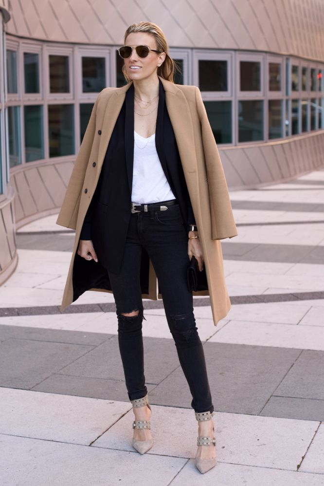 Great camel coat, outfit..except the ripped jeans - Mind Body Swag waysify