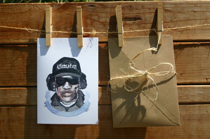 Eazy-E Real Muthaphuckkin G's friend funny greeting card by pinturasDeAnimales on Etsy https://www.etsy.com/listing/198425426/eazy-e-real-muthaphuckkin-gs-friend