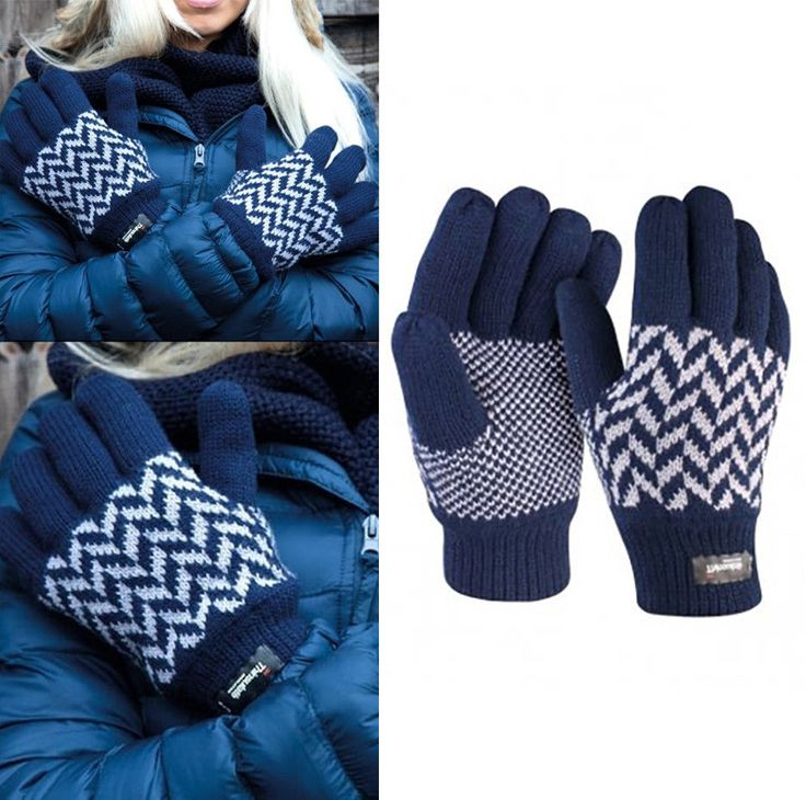 Result Pattern Thinsulate Gloves Womens Unisex styling Winter Warm Cute Gift #Result #WinterGloves