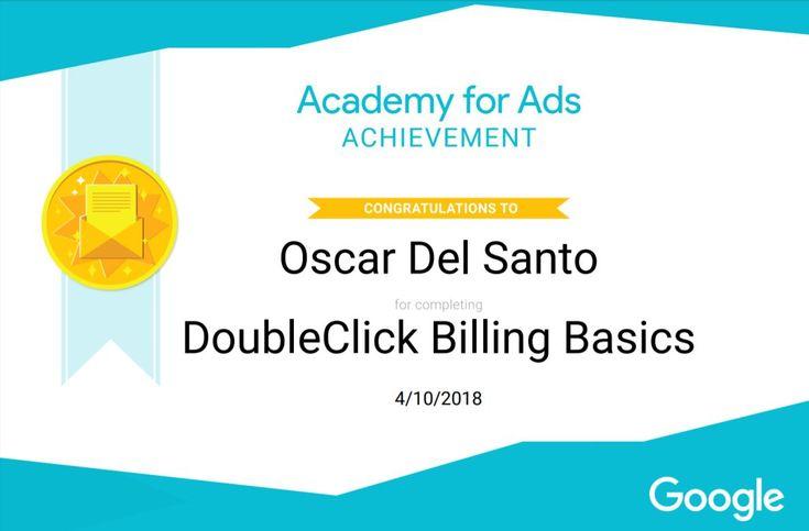 Google Academy DoubleClick Billing Basics 10/4/2018