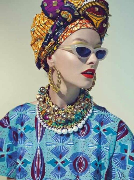 Stella Jean's S/S14 lookbook #blue #prints