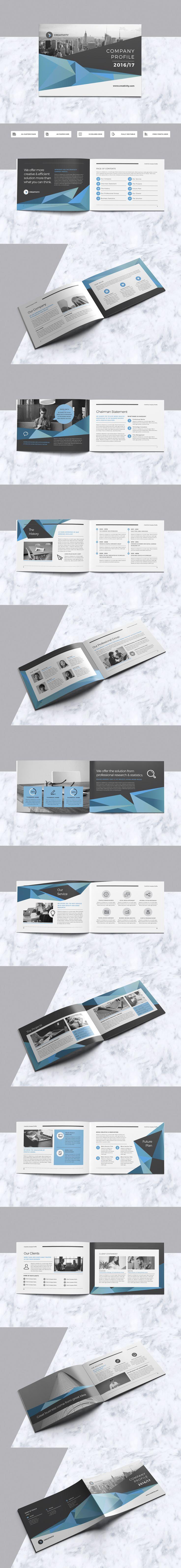 A5 Company Profile Brochure Design Template InDesign INDD