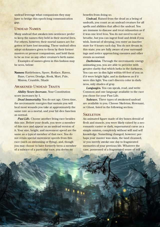 Awakened Undead Homebrew Race 5e (With Images)