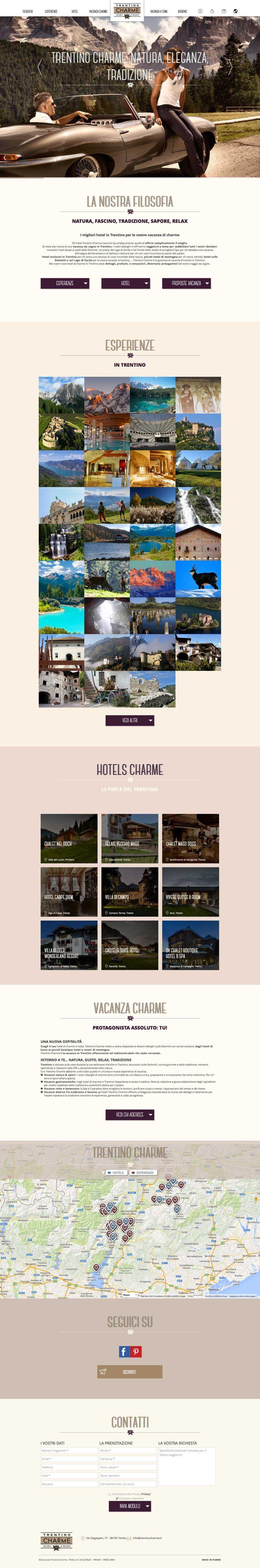 #trentinocharme www.trentinocharme.it #Kumbe #portfolioweb #webdesign #website #responsivedesign #responsive #restyling #newlook #hotels #charme #trentino #beautiful #beauty #sunset #fun #family #love #romance #goodtime #wedding #party #food #fashion #style #jewels #dolomiti #vacanzacharme #vacanzaatema #holiday #natura #fascino #tradizione #sapore #relax #lagodigarda #gardasee #vacanzaromantica #esperienze