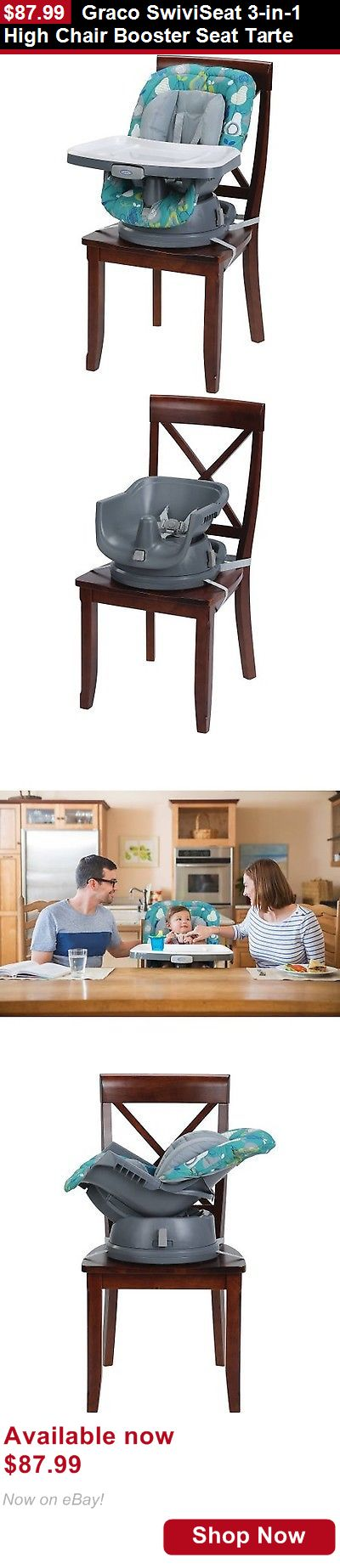 Baby High Chairs: Graco Swiviseat 3-In-1 High Chair Booster Seat Tarte BUY IT NOW ONLY: $87.99