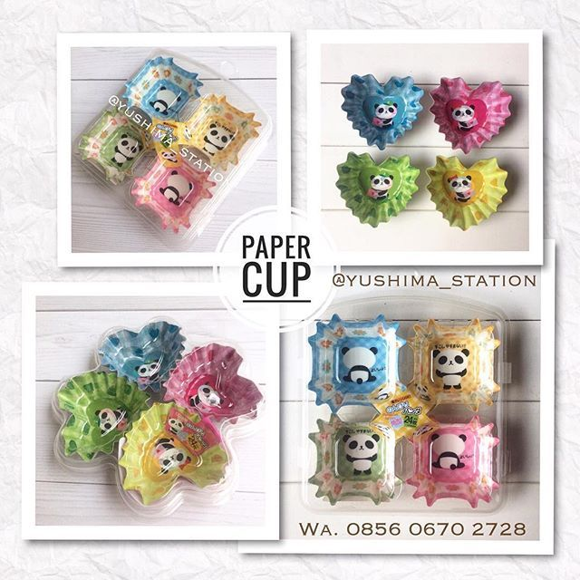 . Paper cup karakter Panda unyu aneka warna biar kotak bekal nya makin ceria (^_^) Walaupun berbahan kertas (paper) namun berlapis glossy agar kalo dijadiin alas makanan tak jadi lembek ^^ . ............................. PAPER CUP Panda Harga: Rp. 35.000/ set Isi: 24 lembar . . Order: -inbox/ DM: @yushima_station -WA: 0856 0670 2728 . Have fun nyiapin bekal ya (^_^)/ . #yushima_station #kawaii #bentotools  #kitchenutensils #alatmasaklucu #kitchen #cookingtools #bakingtools #surabaya…