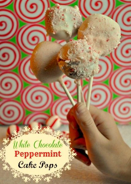 DIY White Chocolate Peppermint Cake Pops
