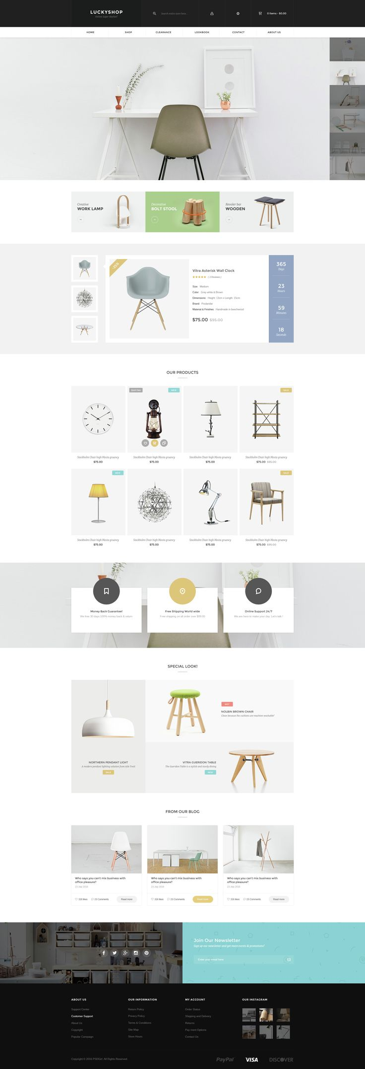 LuckyShop is a modern, clean and professional HTML Template, It is fully responsive, it looks stunning on all types of screens and devices.It is super for fashion shop, digital shop, games shop, fo...