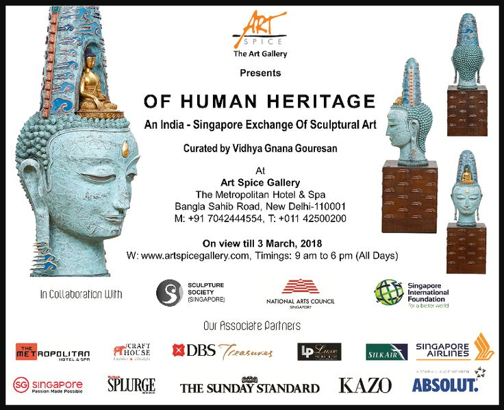 """Current show """"Of Human Heritage"""" - An India-Singapore Exchange of Sculptural Art - A melange of sculptures of Singapore and India come together at a significant and rarely-held event with the aim of nurturing public appreciation of sculptures as an art form. #SingaporeSculptureSociety #arte #artgallery #artspicegallery #currentshow #artcollective #artenthusiast #modernart #sculpture #fineart #indianartist #art_we_inspire #artistry_vision #artlovers #space #art #artlover #delhi #metropolitan"""