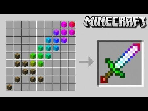 Craft A SECRET RAINBOW SWORD In Minecraft! | Minecraft