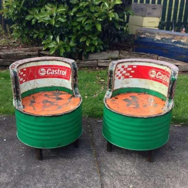 Jolies chaises de jardin! 14 transformations époustouflantes de barils en métal