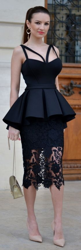 Black Seductive Outfit by My Silk Fairytale