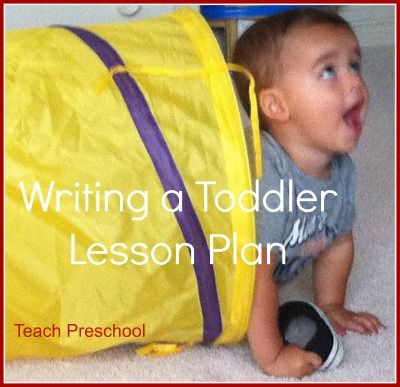 Writing a toddler lesson plan mentaly or on paper great reminder when planning activities at home