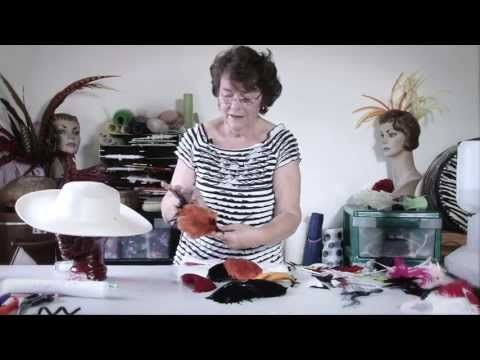 07 - FEATHER TRIM SHAPING - How To Make Hats Millinery Classes   Hat Academy