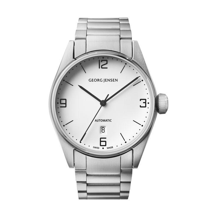 DELTA CLASSIC - 42 mm, Automatic mechanical, white dial, steel bracelet