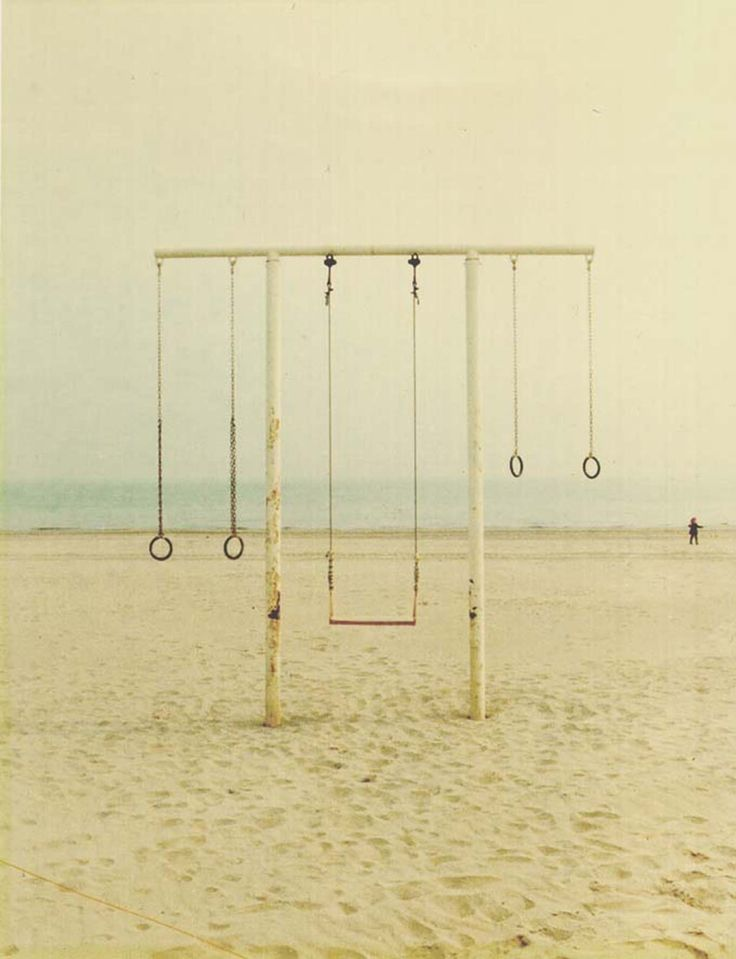-: Di Ravenna, At The Beaches, Old Schools, Blue Sky, Childhood Memories, Plays Sets, Photo, Luigi Ghirri, Swings Sets