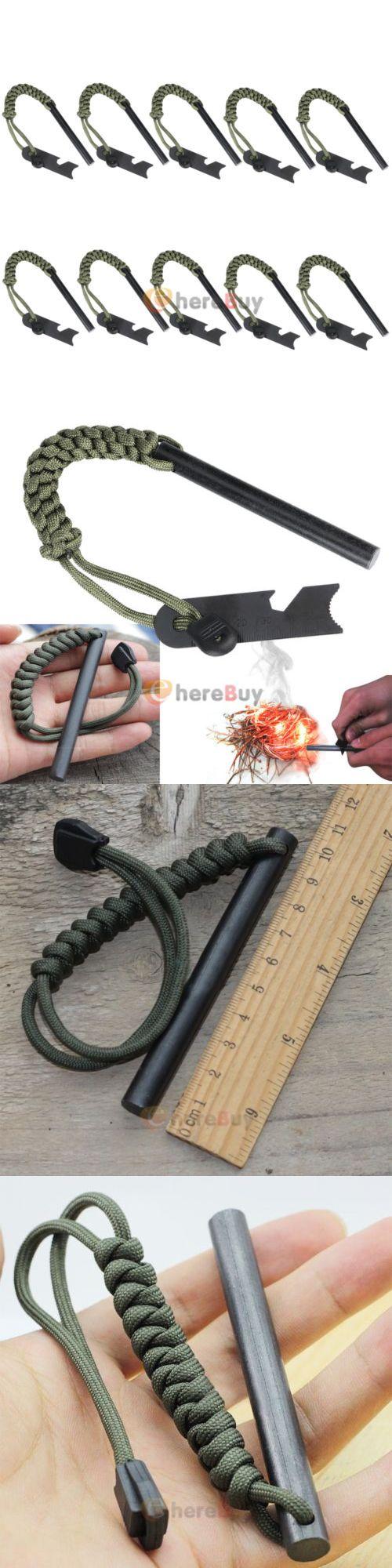 Fire Starters 166126: 10Pcs 4 X 2 5 Drilled Ferrocerium Ferro Rod Steel Flint Fire Starter W Blade -> BUY IT NOW ONLY: $69.99 on eBay!