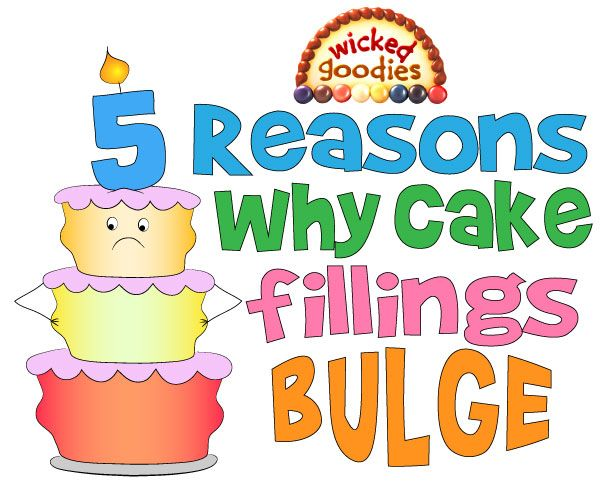 Wicked Goodies | Why Cake Fillings Bulge – Top 5 Reasons and Solutions | https://www.wickedgoodies.net