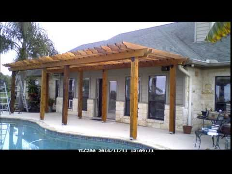 Took about 7 days after I got all hardware and wood onsite. A pergola is just framework without a solid roof, almost anybody can build this type structure, d...