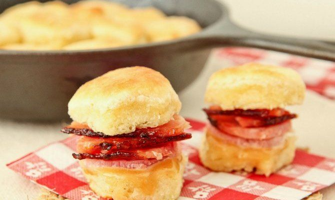 Ham Biscuits with Maple Mayo