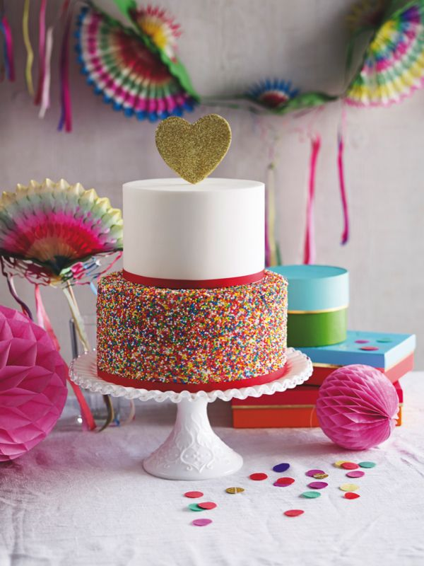 Incredible sprinkles wedding cake int he new 2015 December issue of Perfect Wedding. Image by Chris Chen #wedding #cake