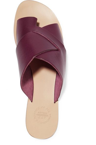 Slight heel Burgundy leather Slip on Designer color: Bordeaux Made in Italy, $250