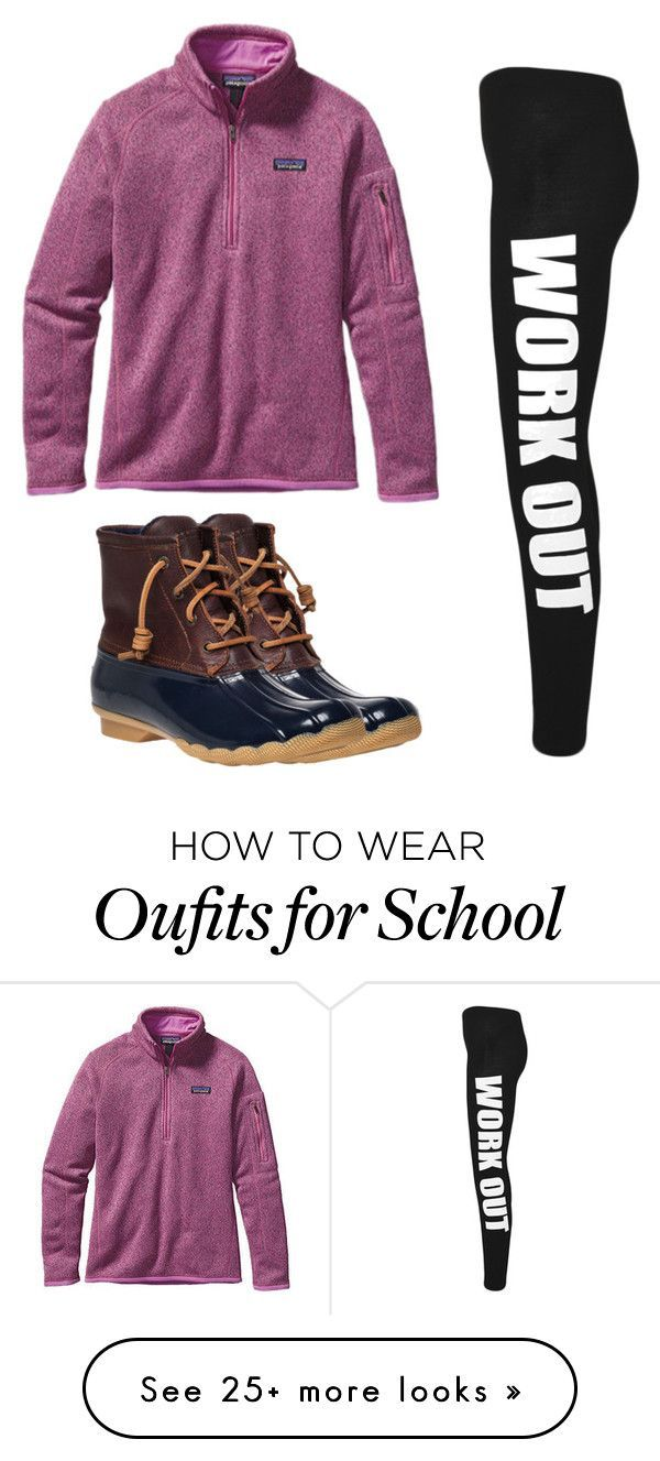"""Patagonia normal school day"" by melw44 on Polyvore featuring Sperry, Patagonia ...,  #Day #f..."