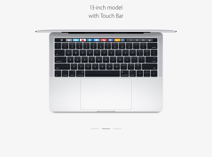 This is the new model 13-inch MacBook Pro but if this model incorporates Touch Bar and Touch ID.