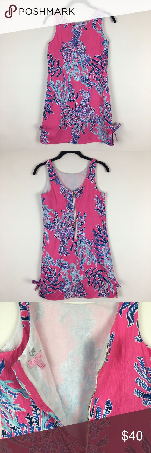 Lilly Pulitzer Girl's Little Delia Dress Size 14 Lilly Pulitzer Girl's Little Delia Dress Size 14 Pink Samba Coral Print  Adorable Little Delia dress by Lilly Pulitzer. Girls size 14. 100% cotton. Chest is 31 inches and length is 31 inches. This is a little girls dress not women's. Lilly Pulitzer Dresses Casual