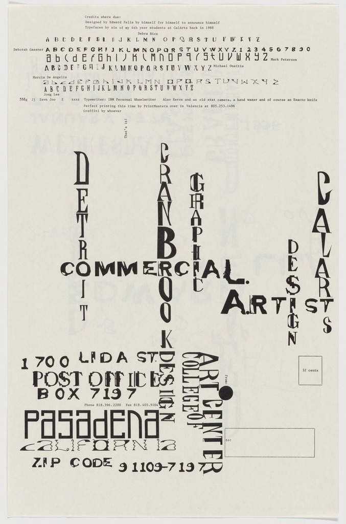 Edward Fella, 1995, Dead End
