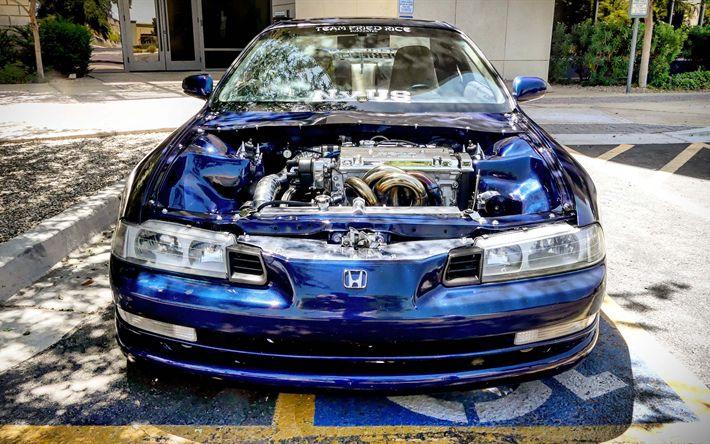 Hämta bilder JDM, tuning, Honda Prelude, HDR, 4k, supercars, Honda