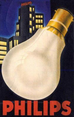 Vintage Philips Ad for lamps | #Philips #retro #vintage #museum #commercial #lighting #lamps