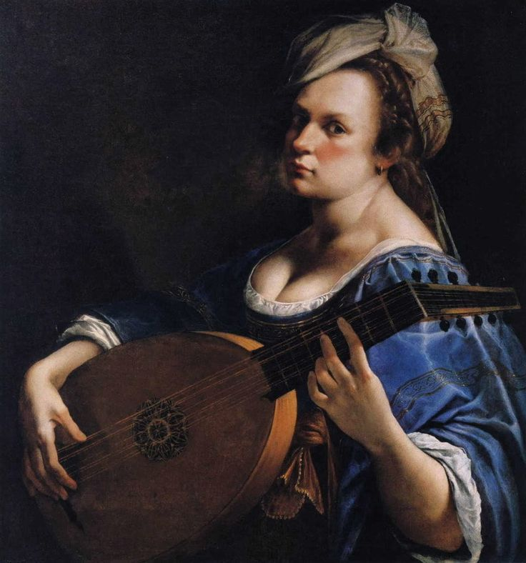 Artemisia Gentileschi (italien, 1593-1653) «Autoportrait en tant que joueur de luth» !